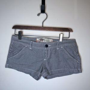 Hollister Strip Shorts size 0